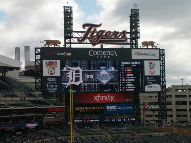 Seating view for Comerica Park Section 326 Row A Seat 14