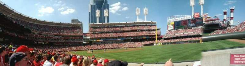 Seating view for Great American Ball Park Section 136 Row L