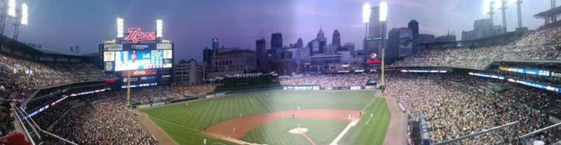 Seating view for Comerica Park Section 330 Row B Seat 1