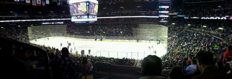 Seating view for Nationwide Arena Section C1 Row F Seat 1