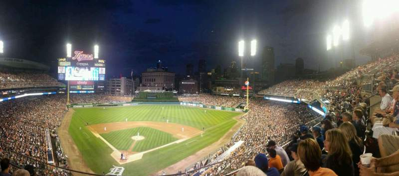 Seating view for Comerica Park Section 326 Row D Seat 10