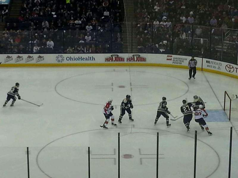 Seating view for Nationwide Arena Section C2 Row H Seat 3