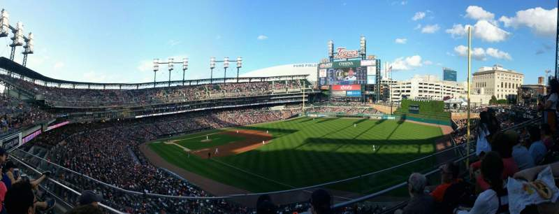 Seating view for Comerica Park Section 213 Row C Seat 9