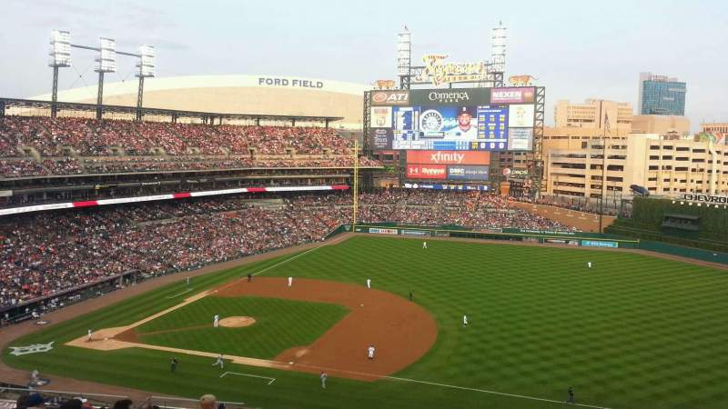 Seating view for Comerica Park Section 218 Row 18 Seat 12