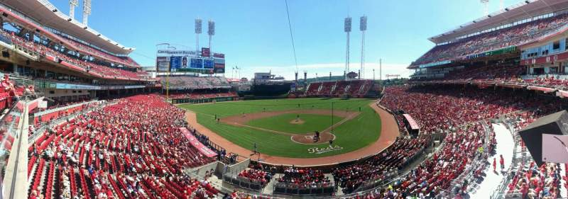 Seating view for Great American Ball Park Section 222 Row A Seat 6