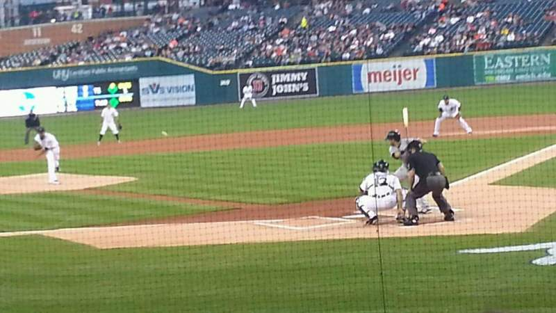 Seating view for Comerica Park Section 130 Row 16 Seat 6