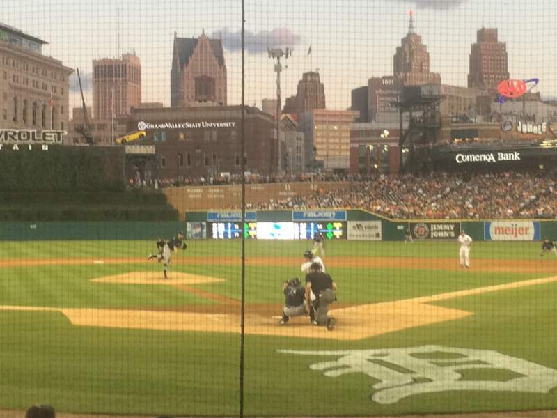 Seating view for Comerica Park Section 129 Row 10 Seat 4