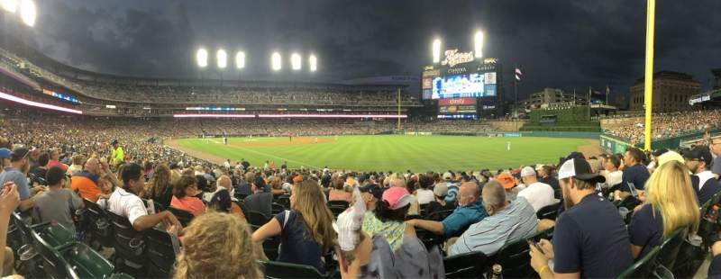 Seating view for Comerica Park Section 113 Row 26 Seat 12