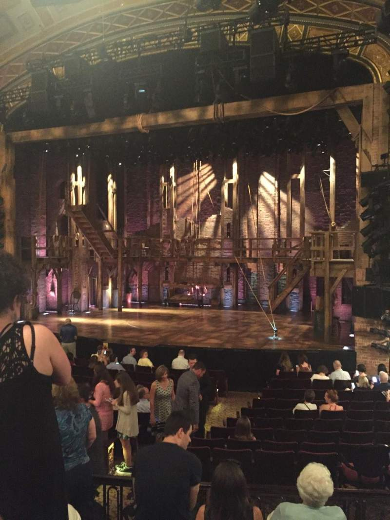 Seating view for Richard Rodgers Theatre Section Orch Row P Seat 110