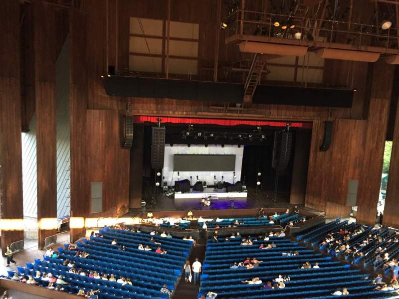 Seating view for The Mann Section Balcony Box 10 Row 1 Seat 2