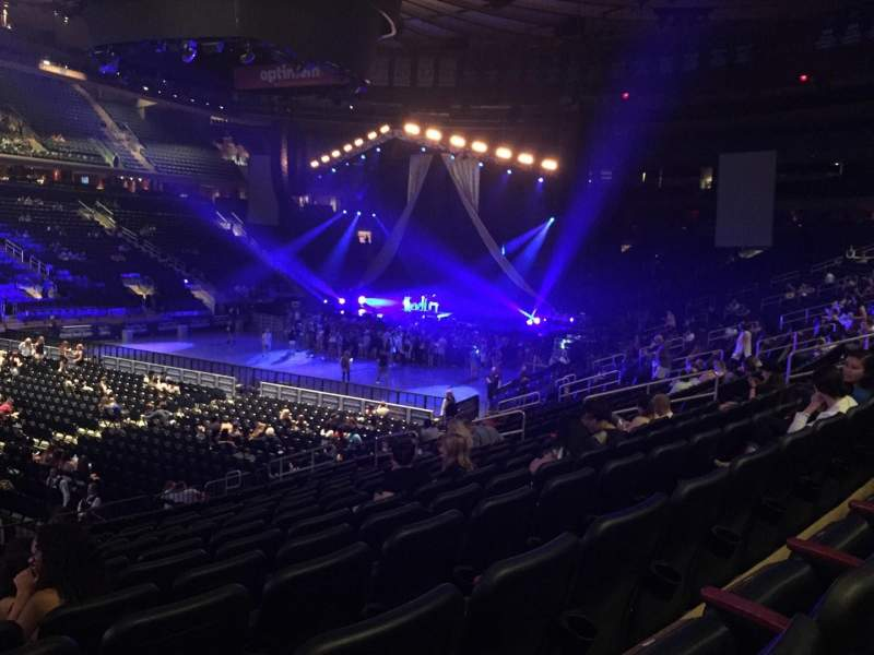 Seating view for Madison Square Garden Section 105 Row 16 Seat 1
