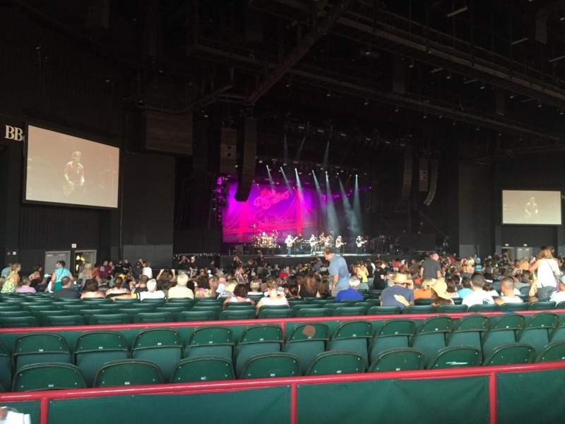 Seating view for BB&T Pavilion Section 203 Row 60 Seat 1