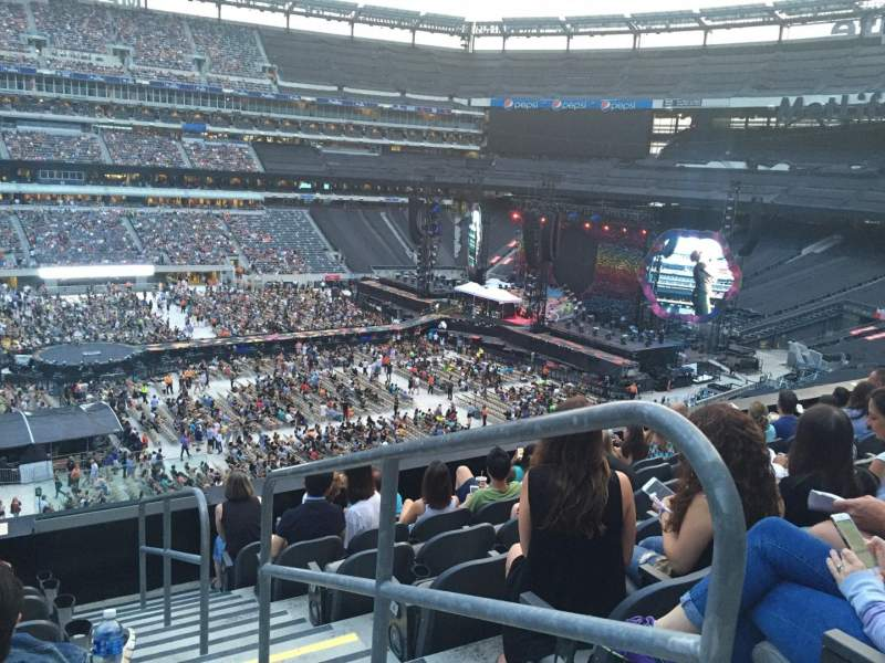 Seating view for MetLife Stadium Section 216 Row 7 Seat 1