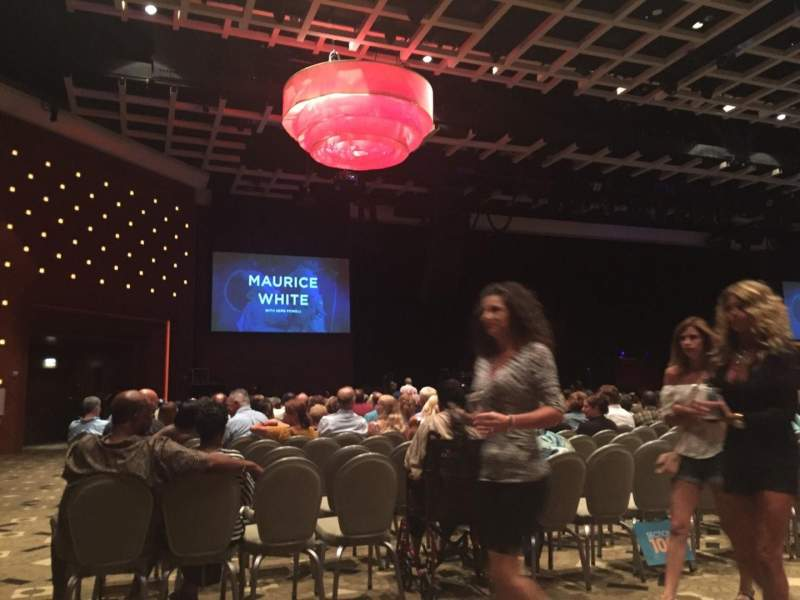 Seating view for Borgata Event Center Section A Row 1 Seat 1