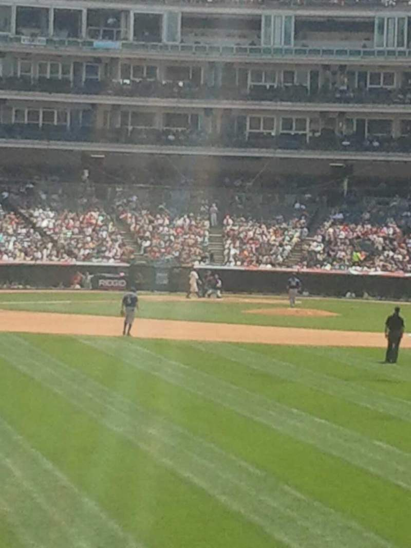 Seating view for Progressive Field Section 101 Row h Seat 4