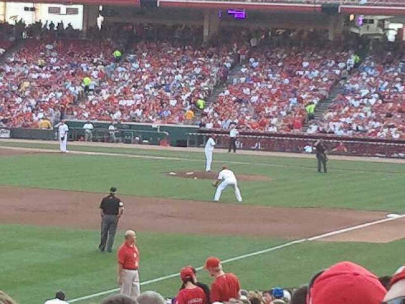 Seating view for Great American Ball Park Section 110 Row y Seat 20