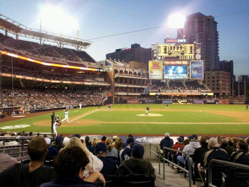 Seating view for PETCO Park Section 105 Row 21