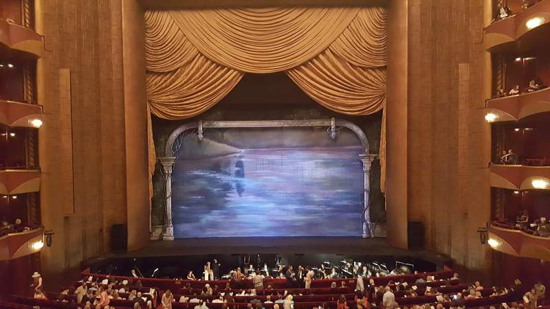 Seating view for Metropolitan Opera House - Lincoln Center Section Grand Tier Row A Seat 102
