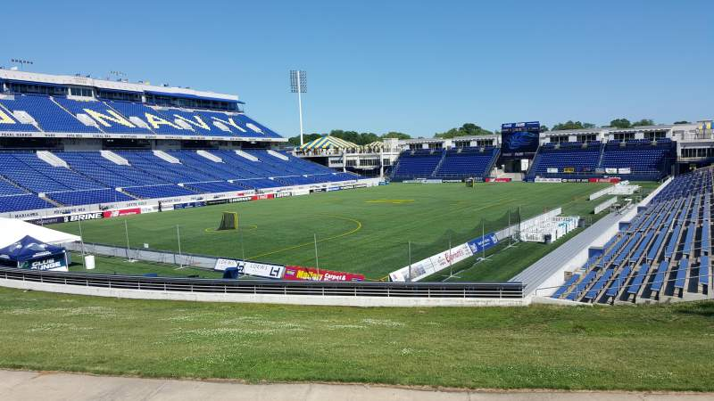 Seating view for Navy-Marine Corps Memorial Stadium Section A Row 5 Seat 12