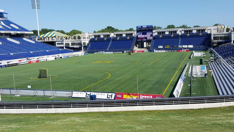 Seating view for Navy-Marine Corps Memorial Stadium Section A Row 5 Seat 35