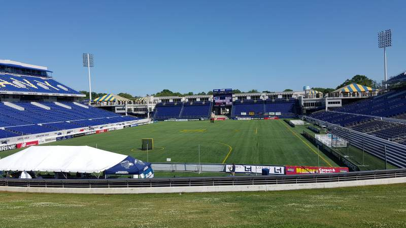 Seating view for Navy-Marine Corps Memorial Stadium Section B Row 5 Seat 12