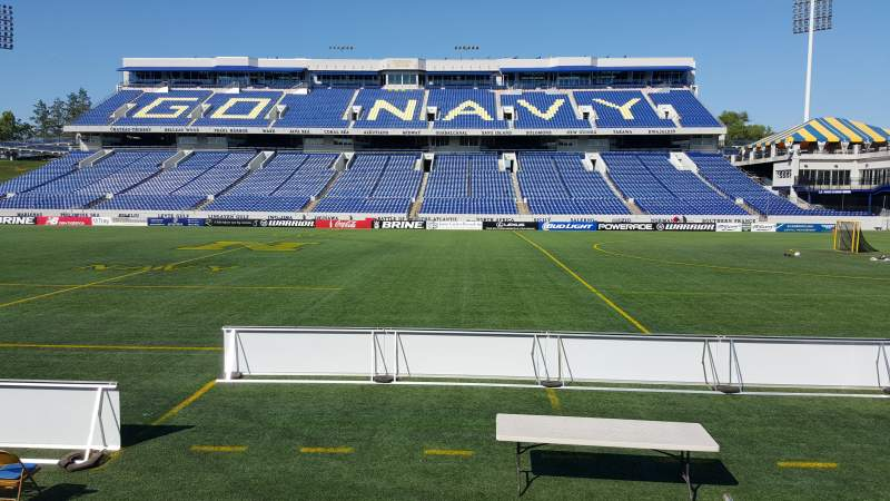 Seating view for Navy-Marine Corps Memorial Stadium Section 3 Row E Seat 1