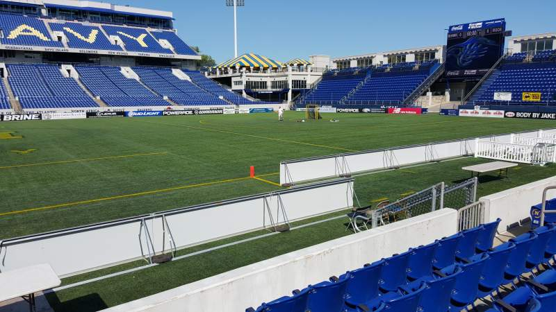 Seating view for Navy-Marine Corps Memorial Stadium Section 4 Row E Seat 1
