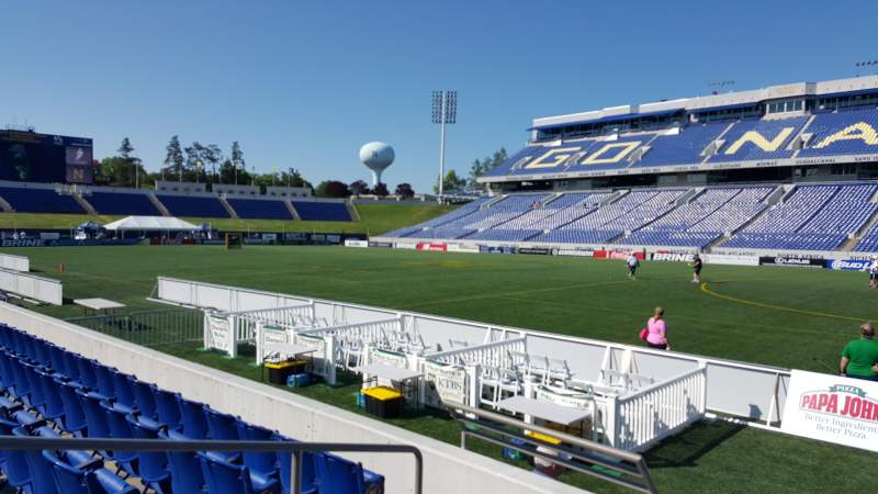 Seating view for Navy-Marine Corps Memorial Stadium Section 1 Row E Seat 5