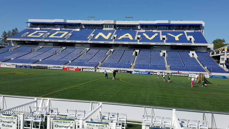 Seating view for Navy-Marine Corps Memorial Stadium Section 2 Row E Seat 1