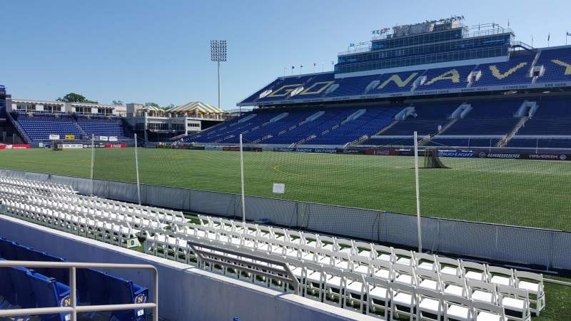 Seating view for Navy-Marine Corps Memorial Stadium Section 25 Row E Seat 18