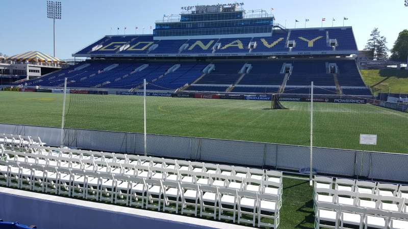 Seating view for Navy-Marine Corps Memorial Stadium Section 25 Row E Seat 24