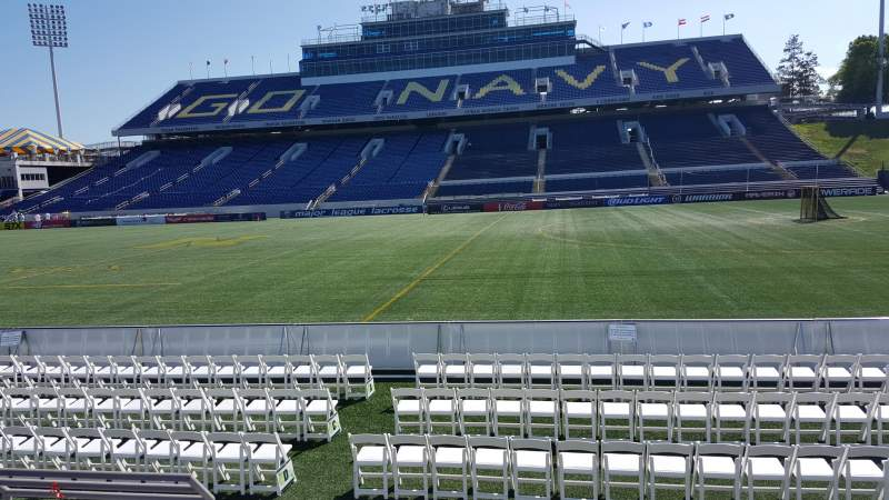 Seating view for Navy-Marine Corps Memorial Stadium Section 26 Row E Seat 17