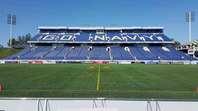 Seating view for Navy-Marine Corps Memorial Stadium Section 27 Row E Seat 1