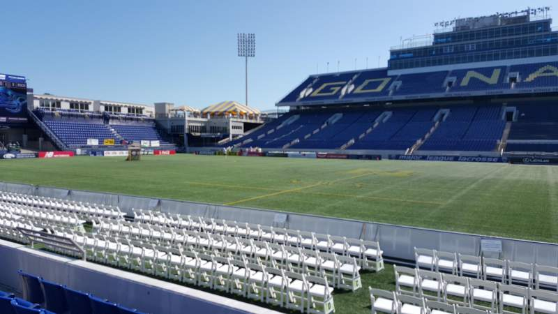 Seating view for Navy-Marine Corps Memorial Stadium Section 28 Row E Seat 24