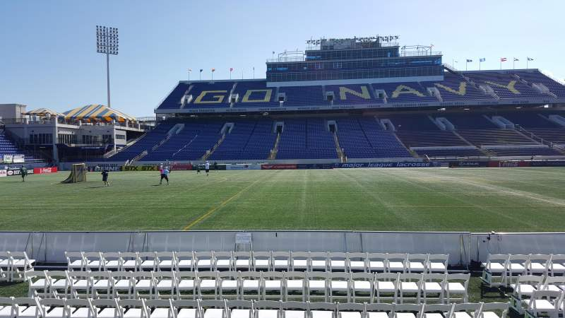 Seating view for Navy-Marine Corps Memorial Stadium Section 29 Row E Seat 1