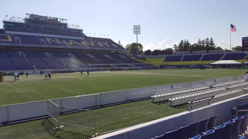 Seating view for Navy-Marine Corps Memorial Stadium Section 30 Row E Seat 1