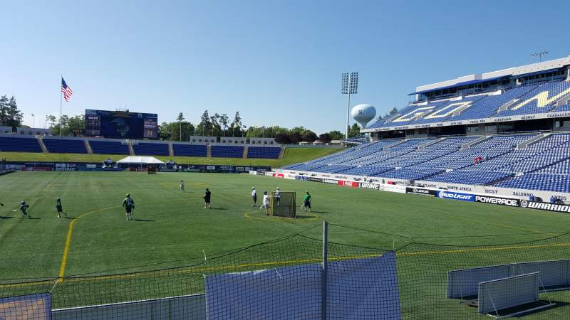 Seating view for Navy-Marine Corps Memorial Stadium Section BEHIND GOAL Row 5 Seat 12