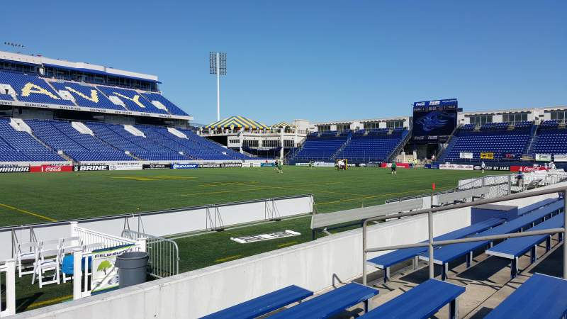 Seating view for Navy-Marine Corps Memorial Stadium Section 6 Row 5 Seat bleacher