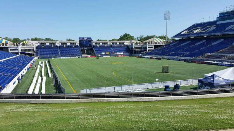 Seating view for Navy-Marine Corps Memorial Stadium Section D Row 5 Seat 12