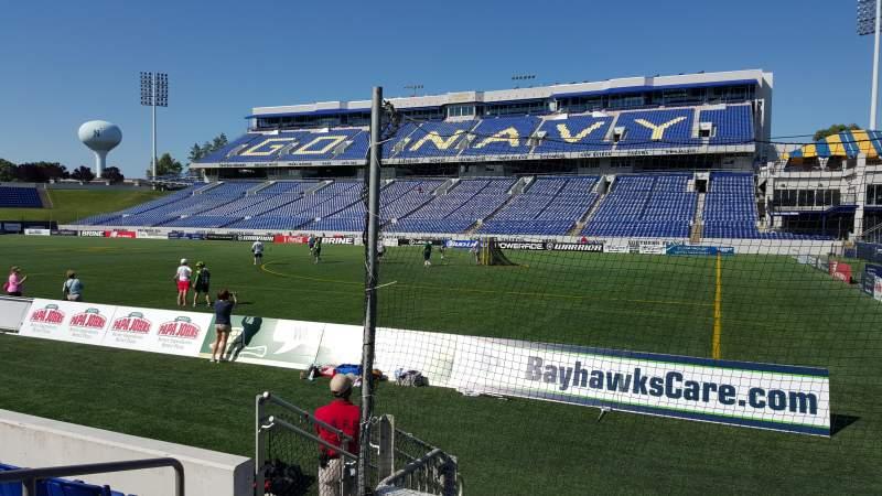 Navy-Marine Corps Memorial Stadium, section: E, row: 1, seat: 16
