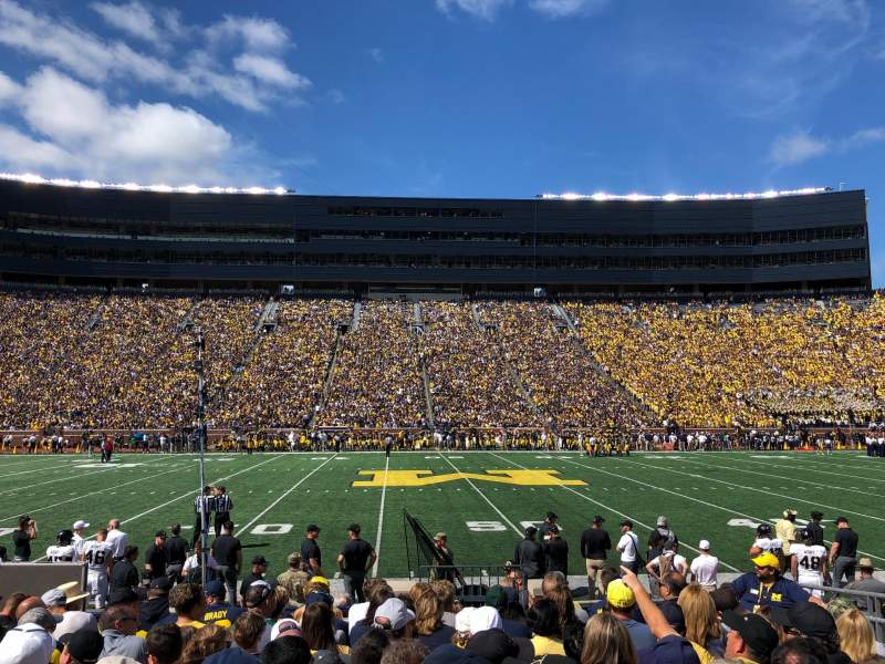 Seating view for Michigan Stadium Section 1 Row 10 Seat 6