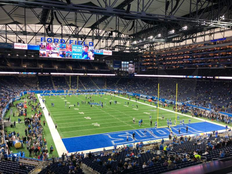Seating view for Ford Field Section 241 Row 1 Seat 6