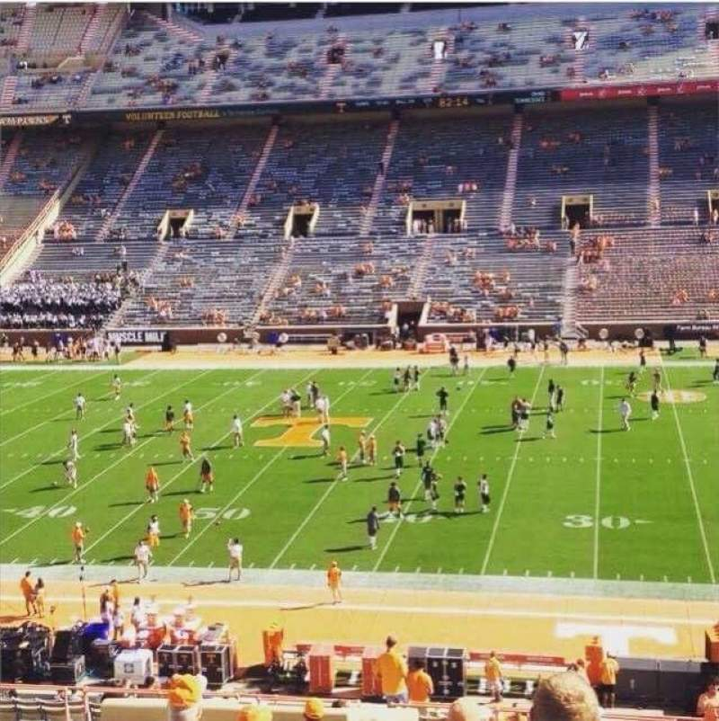 Seating view for Neyland Stadium Section S Row 45 Seat 21-22
