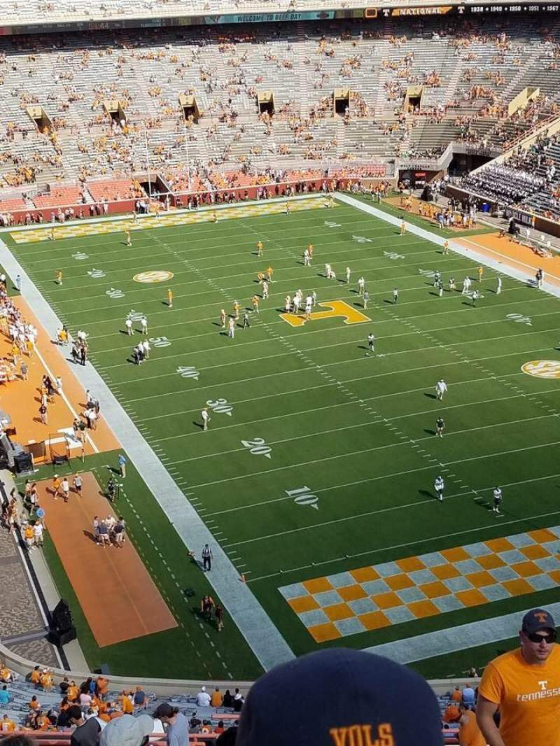 Seating view for Neyland Stadium Section OO Row 25 Seat 3-6