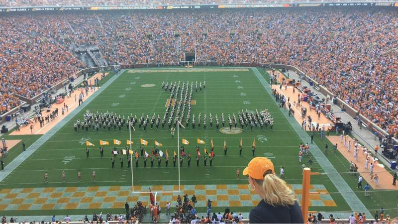 Seating view for Neyland Stadium Section YY8 Row 4 Seat 1-4