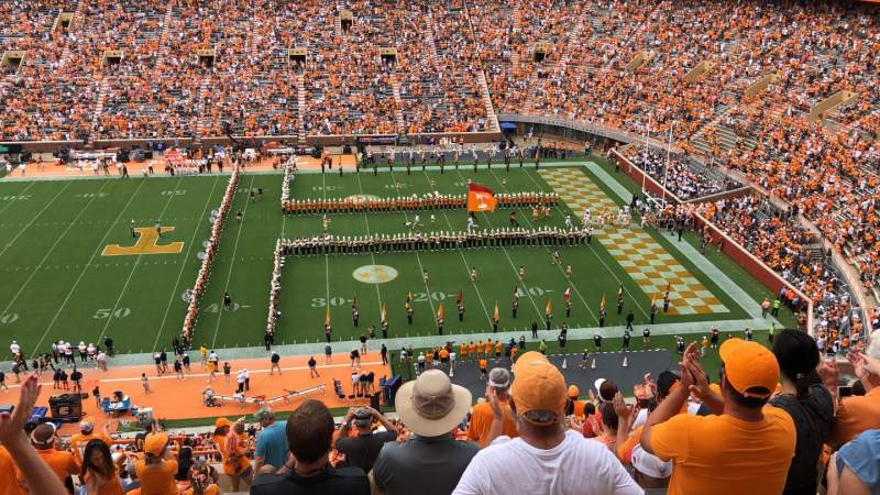 Seating view for Neyland Stadium Section BB Row 19