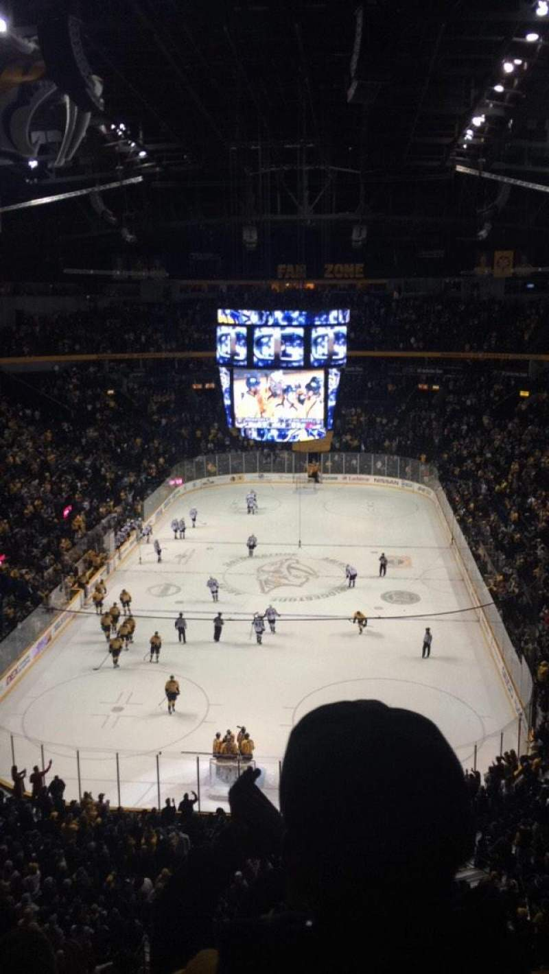Seating view for Bridgestone Arena Section 301 Row C Seat 5