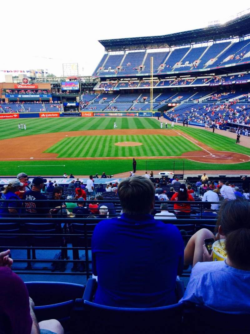 Seating view for Turner Field Section 212 Row 4 Seat 4