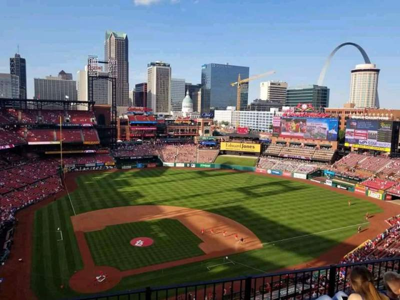 Seating view for Busch Stadium Section 447 Row 4 Seat 7