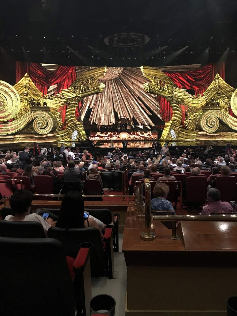 The Colosseum At Caesars Palace, section: Rear Orchestra 4, row: E, seat: 418